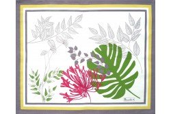 Agapanthes grey-green French Placemats Beauville