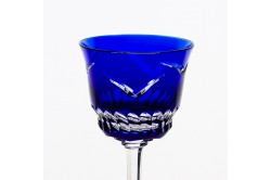 Blue Envol Luxury red wine crystal glasses by Cristallerie de Montbronn