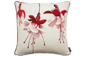 Fuchsia flowers luxury French Tapestry Pillow by Art de Lys