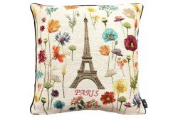 Paris Eiffel Tower luxury Tapestry decorative Pillow and Cushion by Art de Lys