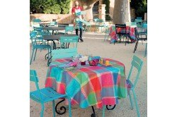 Mille Wax Cocktail French coated tablecloth by Garnier-Thiebaut