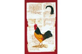 Rooster and Hen French Tea Towels by Beauville