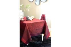 Paysage Scarlett French luxury jacquard tablecloth by Garnier-Thiebaut