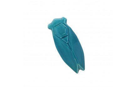 Turquoise Provencal Ceramic Cicada lucky charm by Louis Sicard