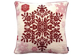 Large red snowflake luxury Tapestry decorative Pillow and Cushion by Art de Lys