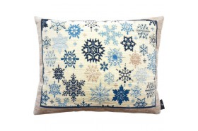 Blue snowflake rain luxury  French Tapestry decorative Pillow and Cushion by Art de Lys