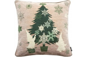 Green Christmas tree French Tapestry Pillow by Art de Lys