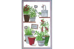 Aromatic herbs French Tea Towel by Beauvillé