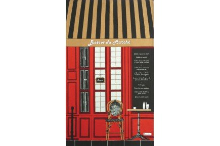 French Bistrot cafe French Tea Towel by Beauvillé