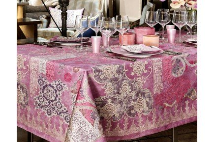 Rialto Lilac by Beauville French luxury Tablecloth