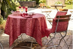 Marella Red French tablecloth by Beauvillé