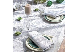 Lysandra Mist French luxury Table runner by Garnier-Thiebaut, romantic, wedding, formal occasions