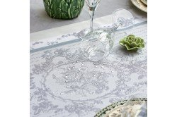Lysandra Mist French luxury Table runner by Garnier-Thiebaut, romantic, wedding, formal occasions