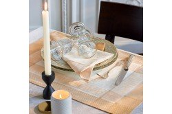 Persina Gold luxury Placemats made in France by Garnier-Thiebaut