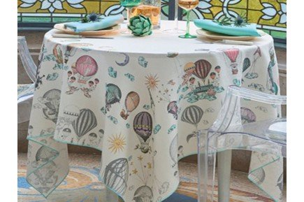 Montgolfieres Fantsay Tablecloth by Garnier-Thiebaut