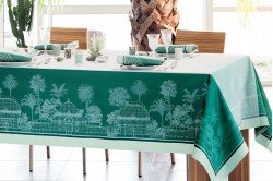 Serres Royales Royal Greenhouses French luxury Tablecloths and table linen by Garnier-Thiebaut