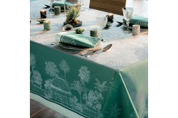 Serres Royales Royal Greenhouses French luxury table runner and table linen by Garnier-Thiebaut