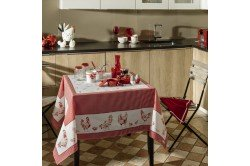 Chickens Tablecloth French country table linen by Beauvillé