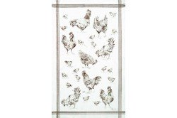 Chickens Country French Tea Towels by Beauvillé