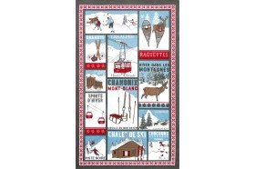Mountain Fun French Tea Towel by Beauvillé