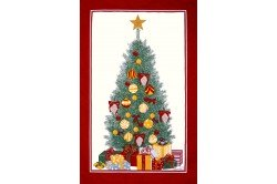 Christmas Tree  French Tea Towel by Beauville