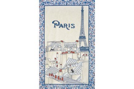 Paris Rooves French Tea Towel by Beauvillé