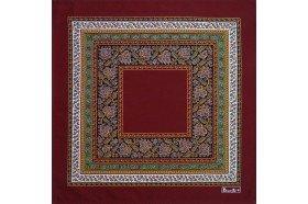 Vine Leaf Red Feuilles de vigne French luxury napkins by Beauvillé