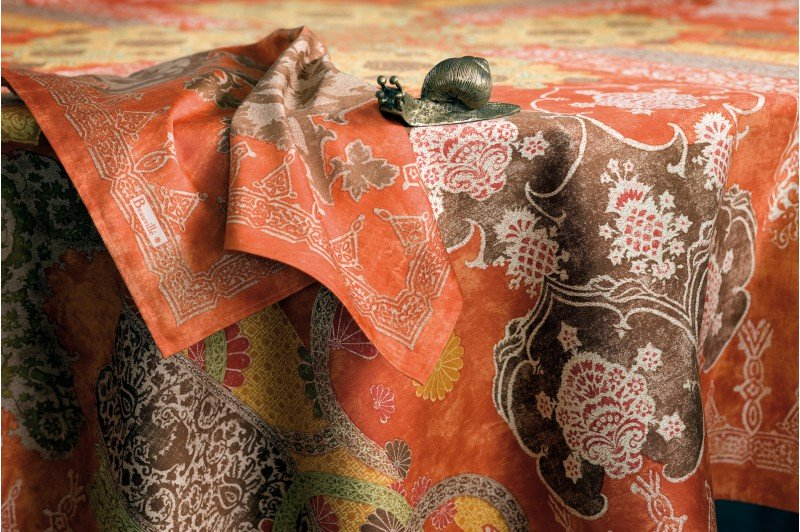 Rialto Rust French Tablecloth Luxury French Table Linens