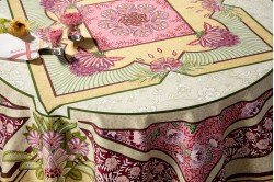 Versailles Pink luxury French Art Deco tablecloth by Beauvillé