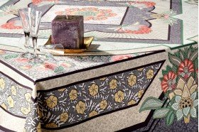 Versailles Grey luxury French Art Deco tablecloth by Beauvillé
