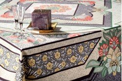 Versailles Grey Placemat luxury French Art Deco table linens by Beauvillé