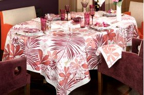 Great Palms Pink Tablecloth