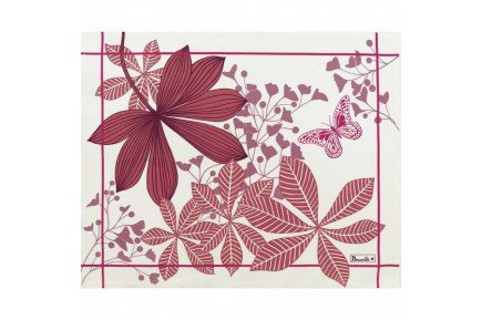 Great Palms Pink French luxury placemats and table linen collection by Beauvillé
