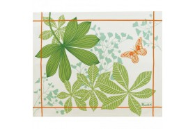 Great Palms Anis green French luxury Placemats and table linens by Beauvillé