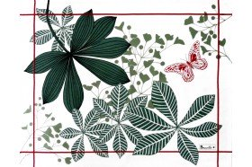 Great Palms Green luxury Coated Placemat by Beauvillà