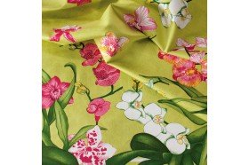 Orchids luxury French tablecloth by Beauvillé