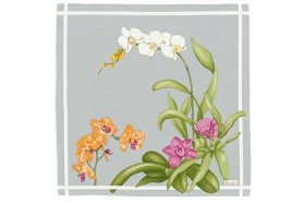 Orchids Grey French luxury Napkins by Beauvillé