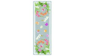 Orchids Grey French luxury Table Runner by Beauvillé