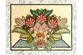 Versailles Yellow luxury French Art Deco Placemats by Beauvillé