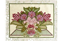 Versailles Pink Placemat luxury French Art Deco table linens by Beauvillé
