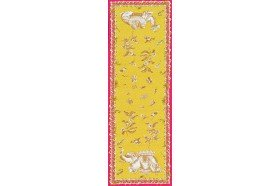 Pondichery French table runner by Beauvillé