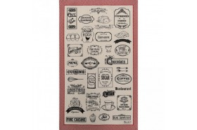 Bon Apetit French Tea Towel Kitchen linen by Beauville