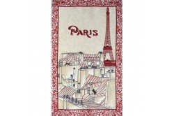Paris Rooves Eiffel Tower Red Tea Towel Kitchen linen by Beauville