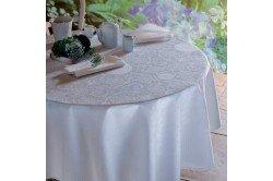 Appoline White luxury white damask tablecloth by Garnier Thiebaut