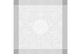 Appoline white luxury damask napkins made in France by Garnier-Thiebaut