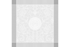 Appoline white luxury damask napkins made in France by Garnier-Thiebaut