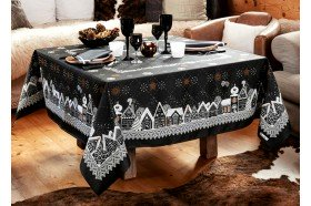Starry Night Nuit Etoilee Slate French luxury Christmas Tablecloth