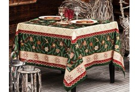 Gingerbread Tree Sapin d'Epices French traditional Christmas Tablecloth by Beauvillé