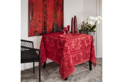 Diner en Ville Garnet paisley French luxury Tablecloth by Beauville