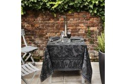 Diner en Ville Slate paisley Fine French Tablecloth by Beauville